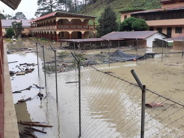 flooded school ground