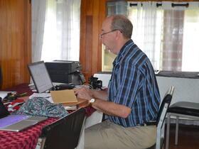 Len Rempel on computer